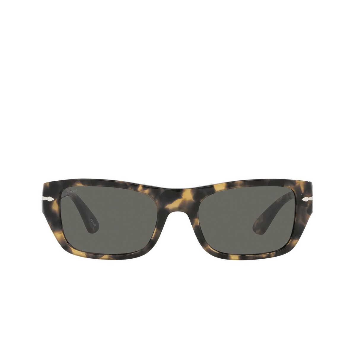 Persol® Rectangle Sunglasses: PO3268S color Brown / Tortoise Beige 1056B1 - front view.