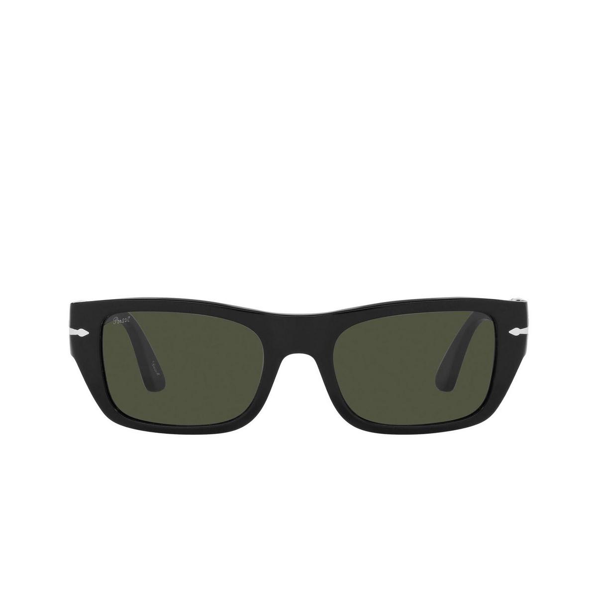 Persol® Rectangle Sunglasses: PO3268S color Black 95/31 - front view.
