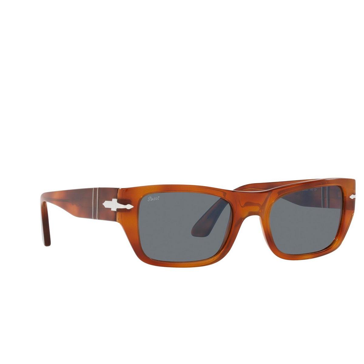 Persol® Rectangle Sunglasses: PO3268S color Terra Di Siena 96/56 - three-quarters view.