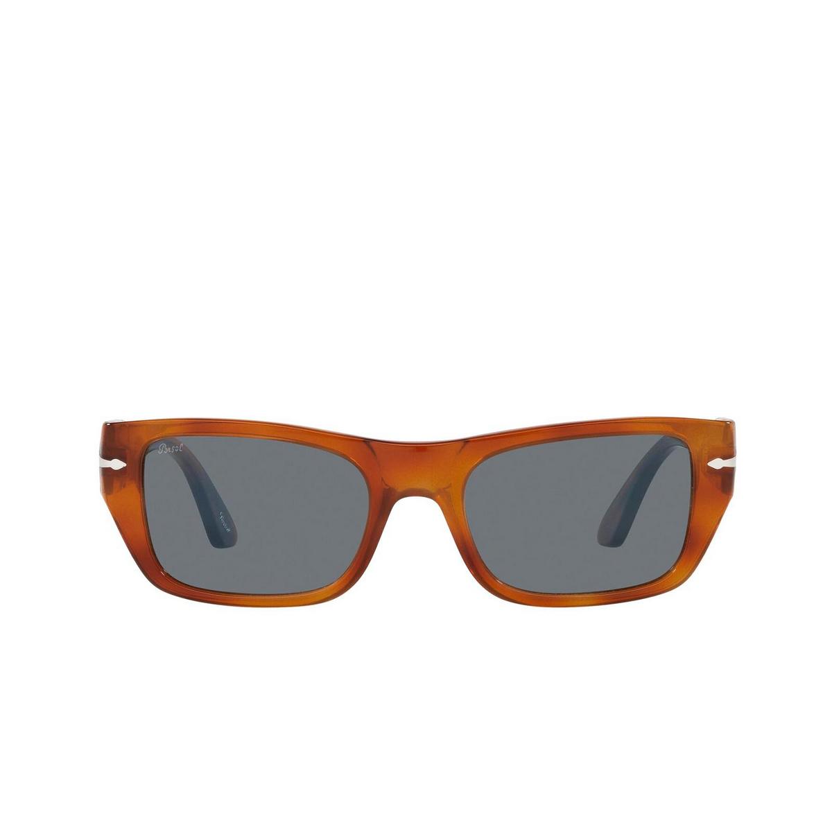 Persol® Rectangle Sunglasses: PO3268S color Terra Di Siena 96/56 - front view.