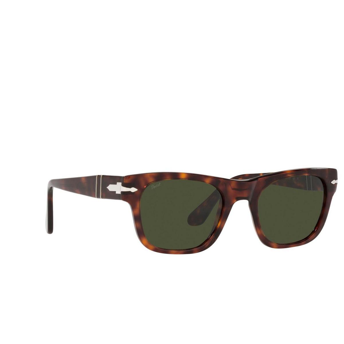 Persol® Rectangle Sunglasses: PO3269S color Havana 24/31 - three-quarters view.