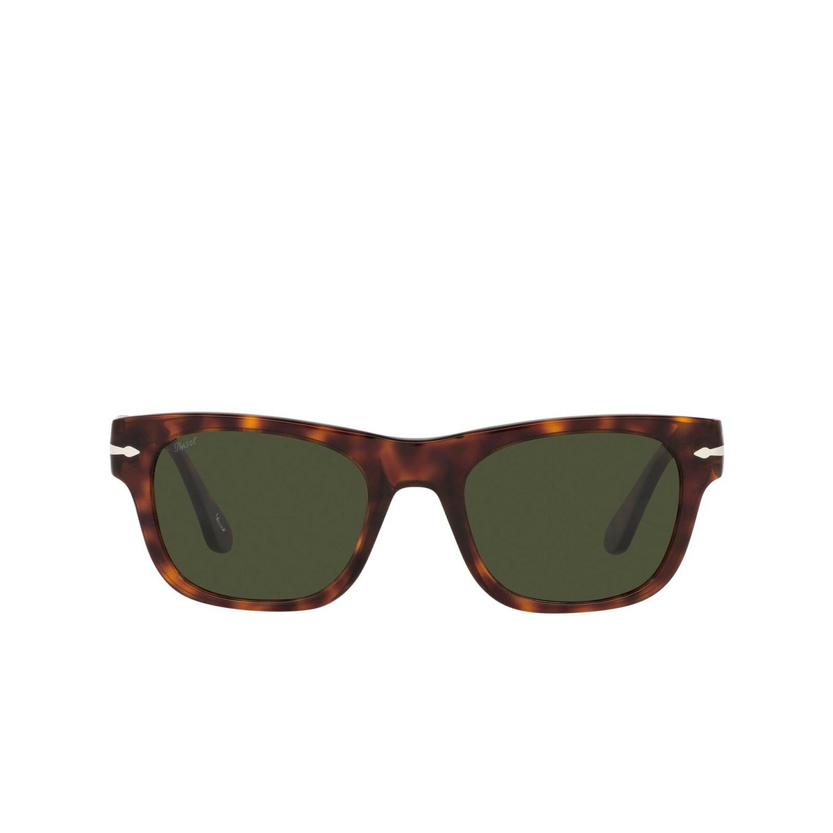 Persol® Rectangle Sunglasses: PO3269S color Havana 24/31 - front view.