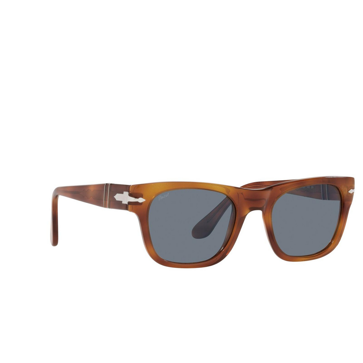Persol® Rectangle Sunglasses: PO3269S color Terra Di Siena 96/56 - three-quarters view.