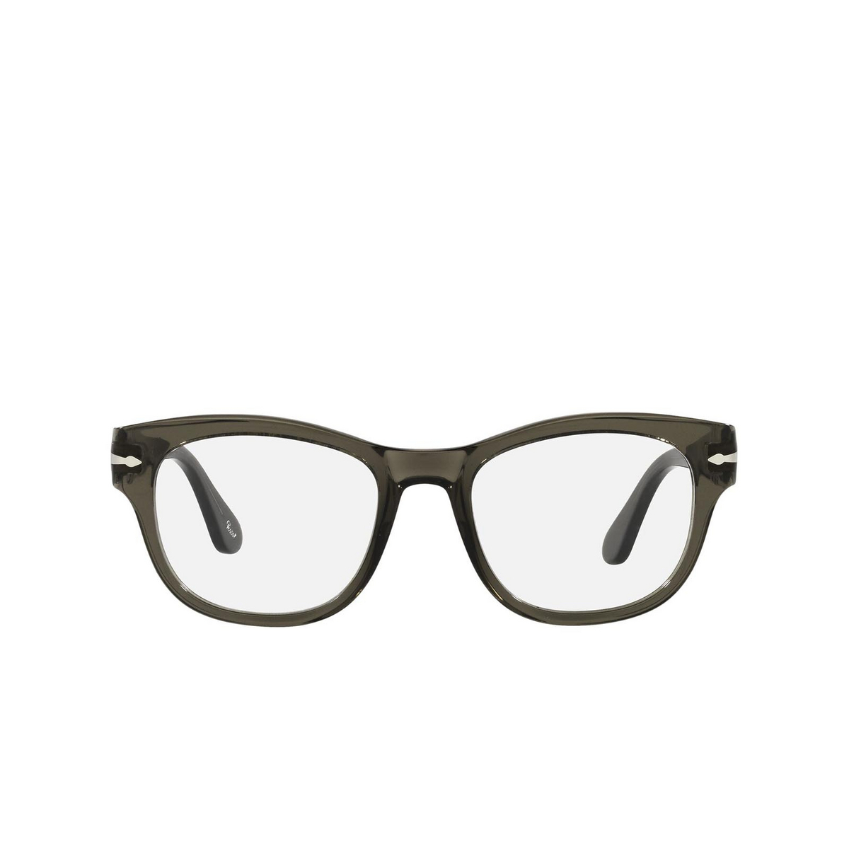 Persol® Square Eyeglasses: PO3270V color Opal Smoke 1103 - front view.