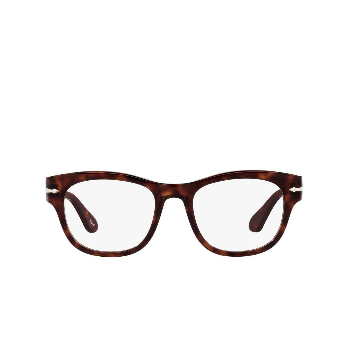 Persol® Square Eyeglasses: PO3270V color Havana 24.
