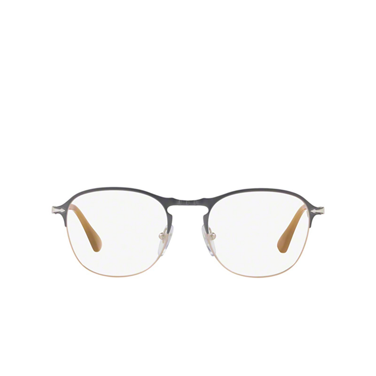 Persol® Square Eyeglasses: PO7007V color Grey / Light Brown 1071 - front view.