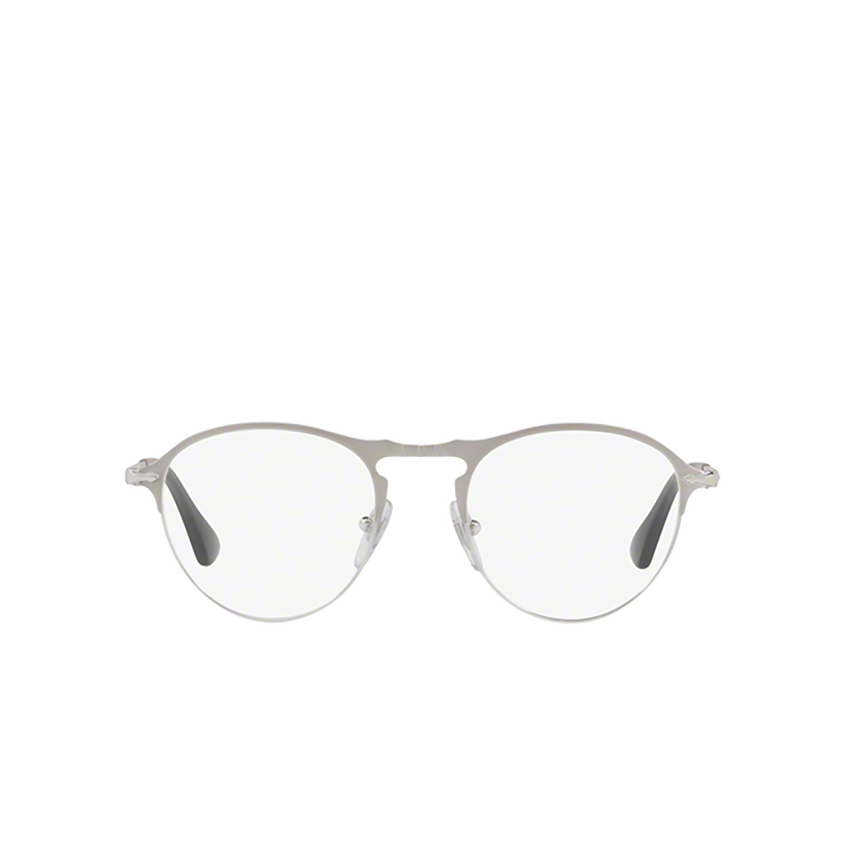 Persol® Round Eyeglasses: PO7092V color Matte Silver / Silver 1068 - front view.