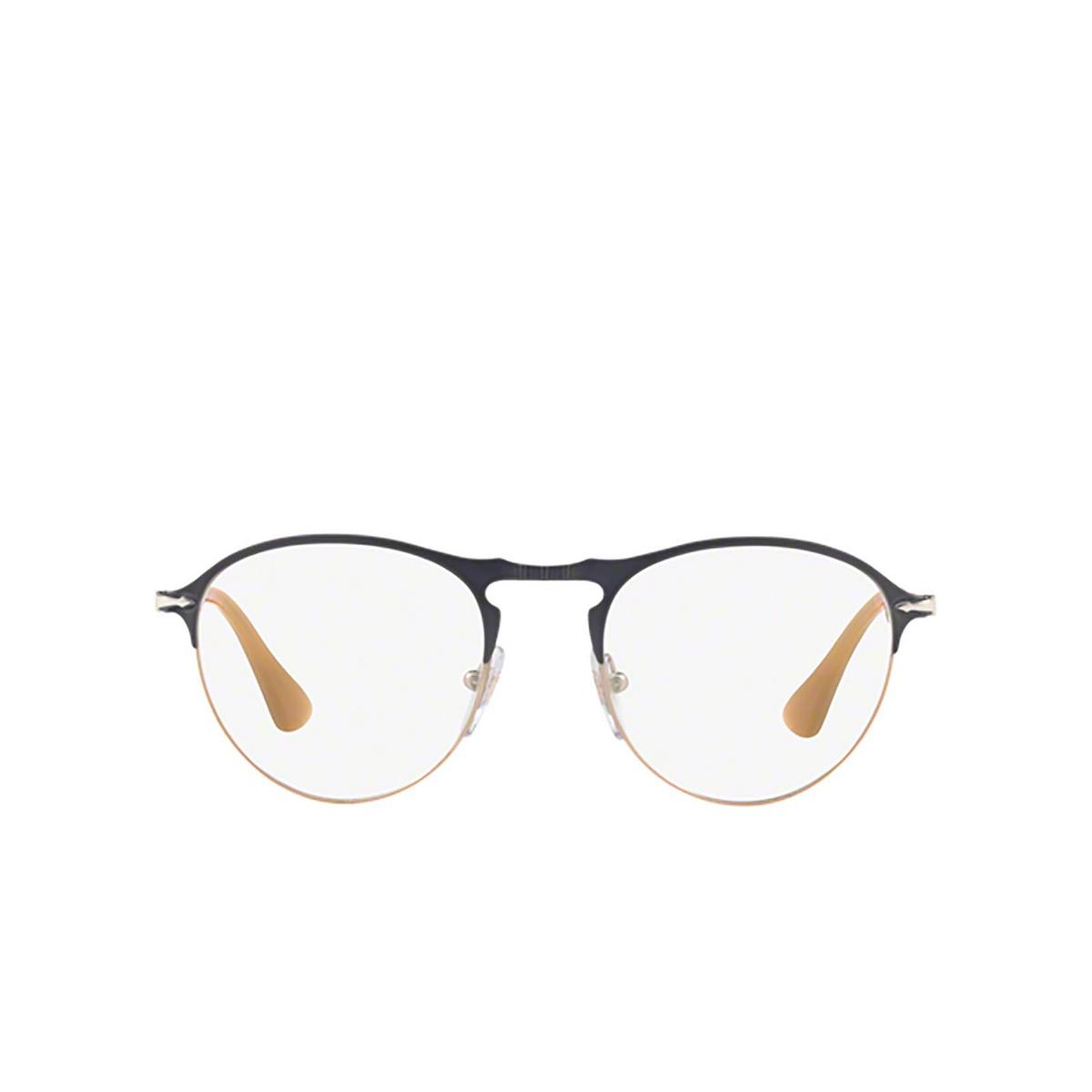 Persol® Round Eyeglasses: PO7092V color Matte Grey / Light Brown 1071 - front view.
