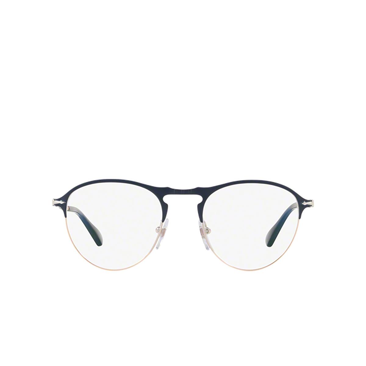 Persol® Round Eyeglasses: PO7092V color Blue / Bronze 1073 - front view.