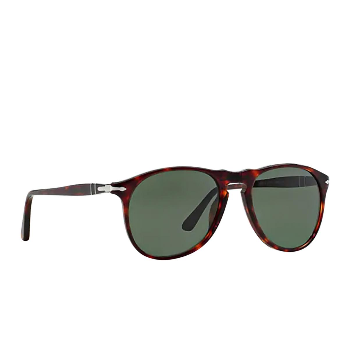 Persol® Aviator Sunglasses: PO9649S color Havana 24/31 - three-quarters view.