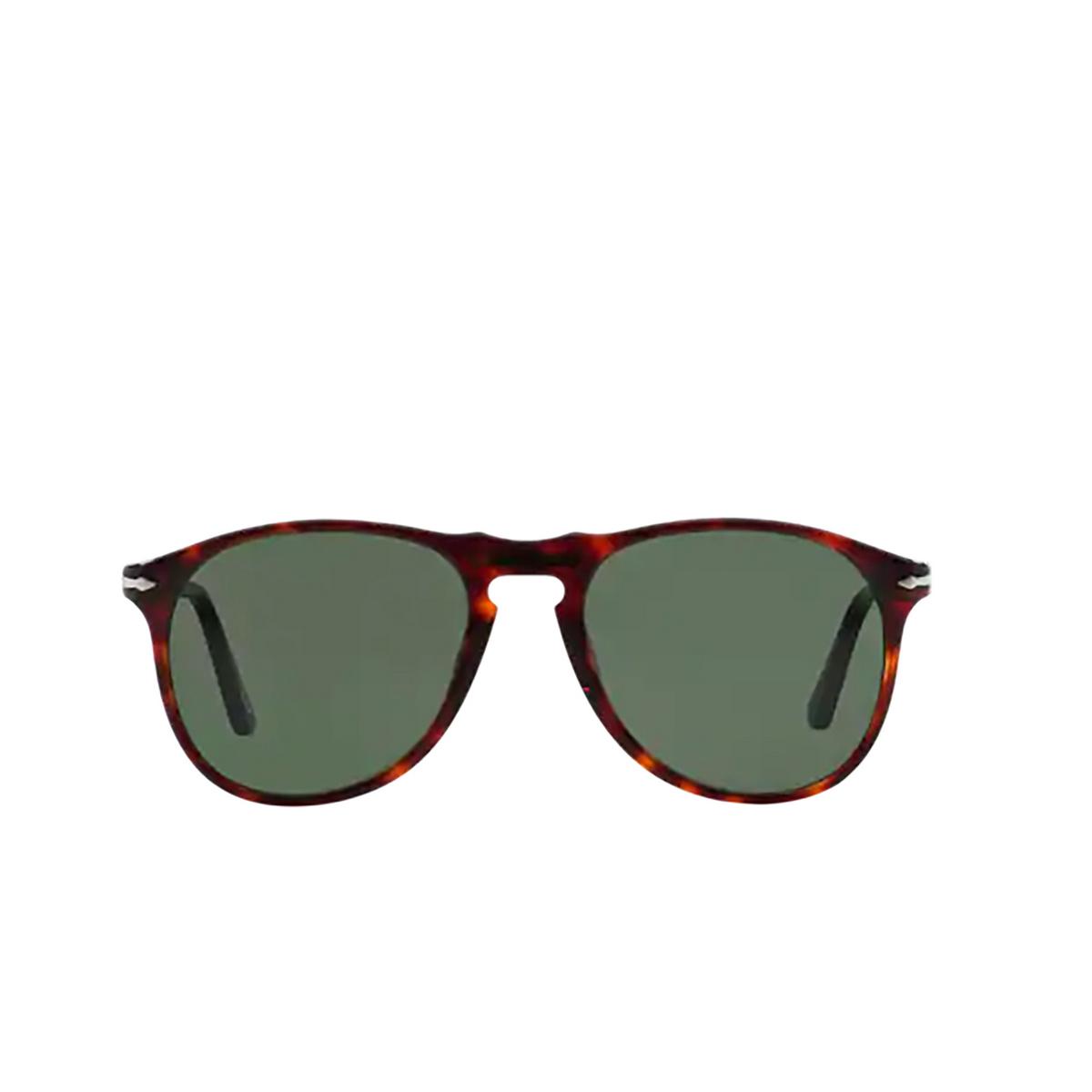 Persol® Aviator Sunglasses: PO9649S color Havana 24/31 - front view.