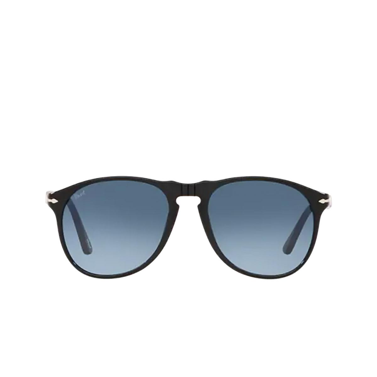 Persol® Aviator Sunglasses: PO9649S color Black 95/Q8 - front view.