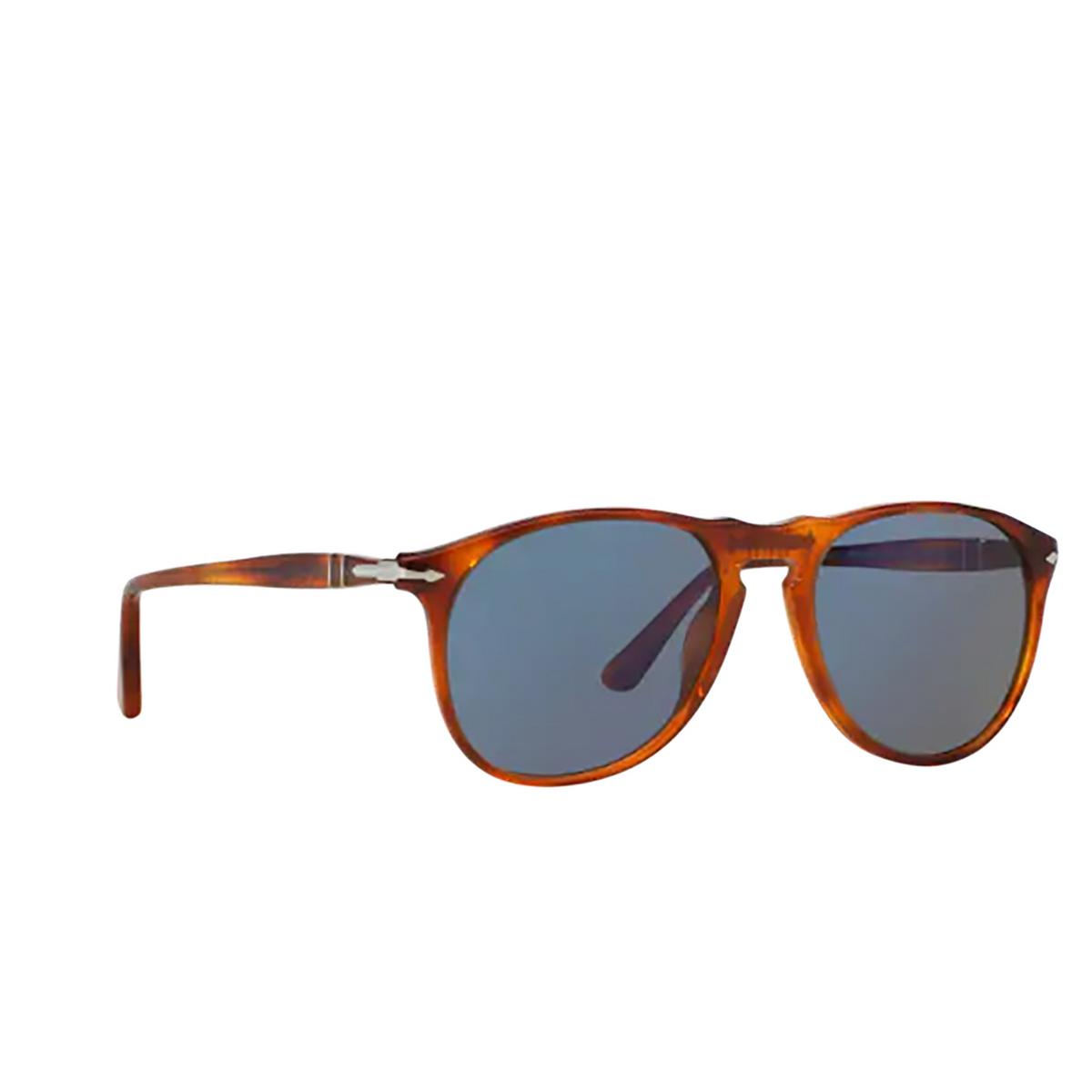 Persol® Round Sunglasses: PO9649S color Terra Di Siena 96/56 - three-quarters view.