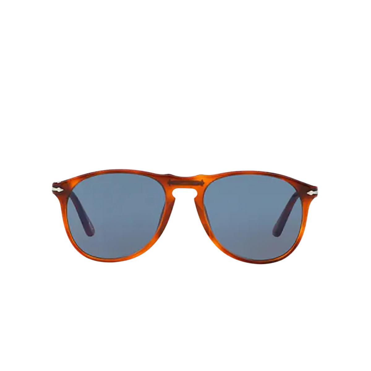 Persol® Round Sunglasses: PO9649S color Terra Di Siena 96/56 - front view.