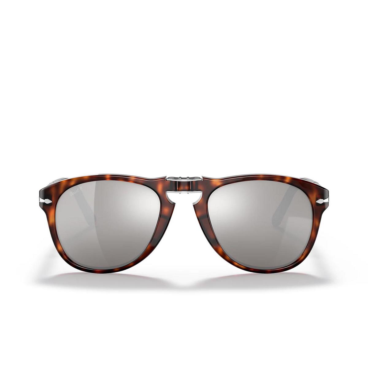 Persol® Aviator Sunglasses: Steve Mcqueen PO0714SM color Havana 24/AP - front view.