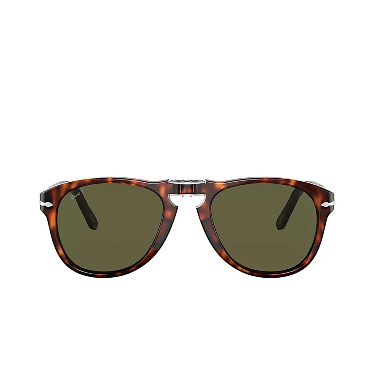 Persol® Aviator Sunglasses: Steve Mcqueen PO0714SM color Havana 24/P1.