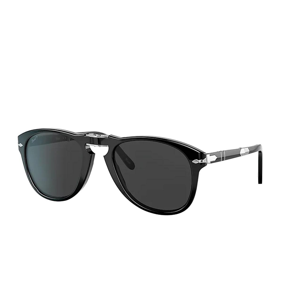 Persol® Aviator Sunglasses: Steve Mcqueen PO0714SM color Black 95/48.