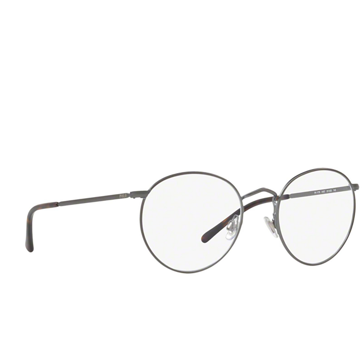 Polo Ralph Lauren® Round Eyeglasses: PH1179 color Semi-shiny Dark Gunmetal 9157.