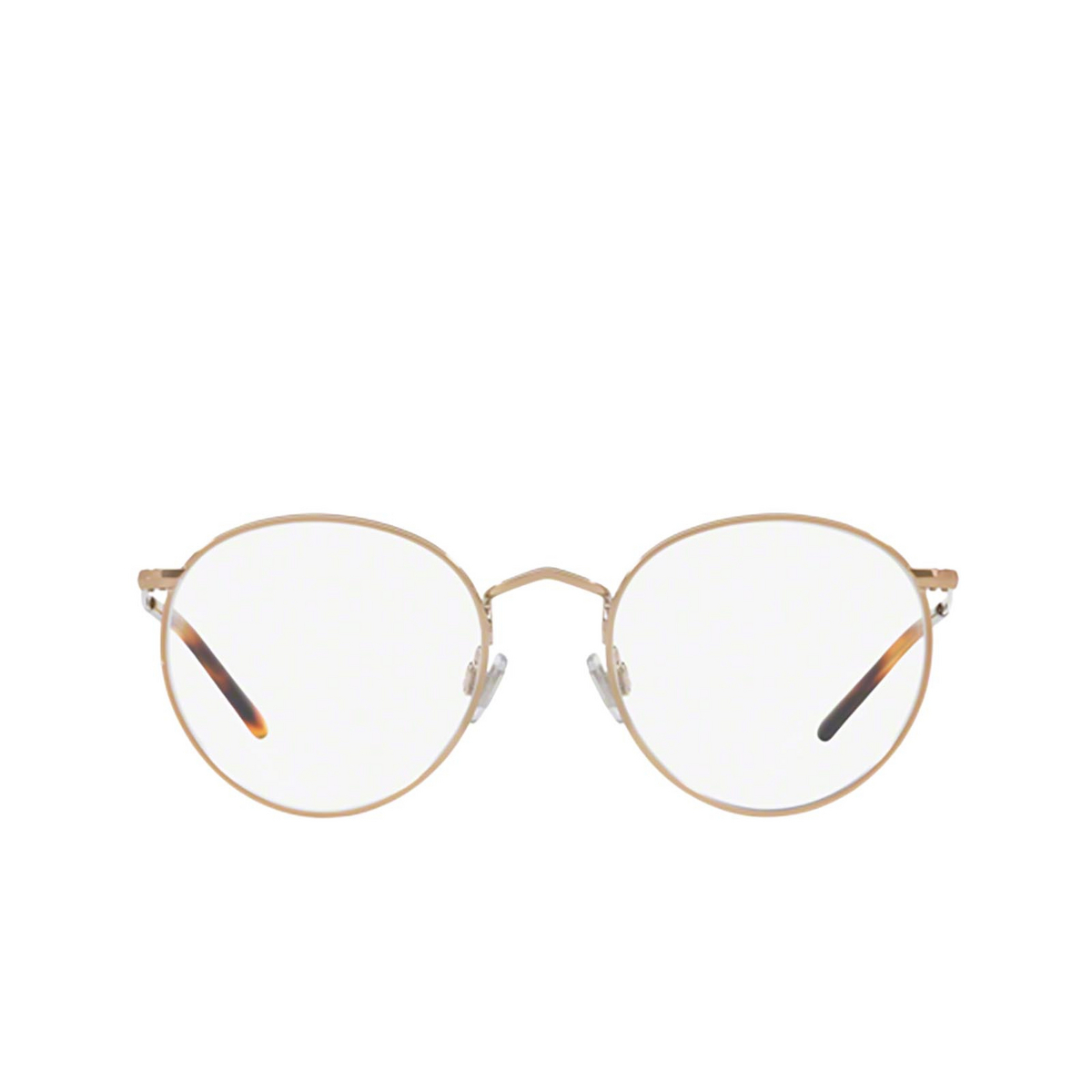 Polo Ralph Lauren® Round Eyeglasses: PH1179 color Shiny Dark Rose Gold 9334 - front view.