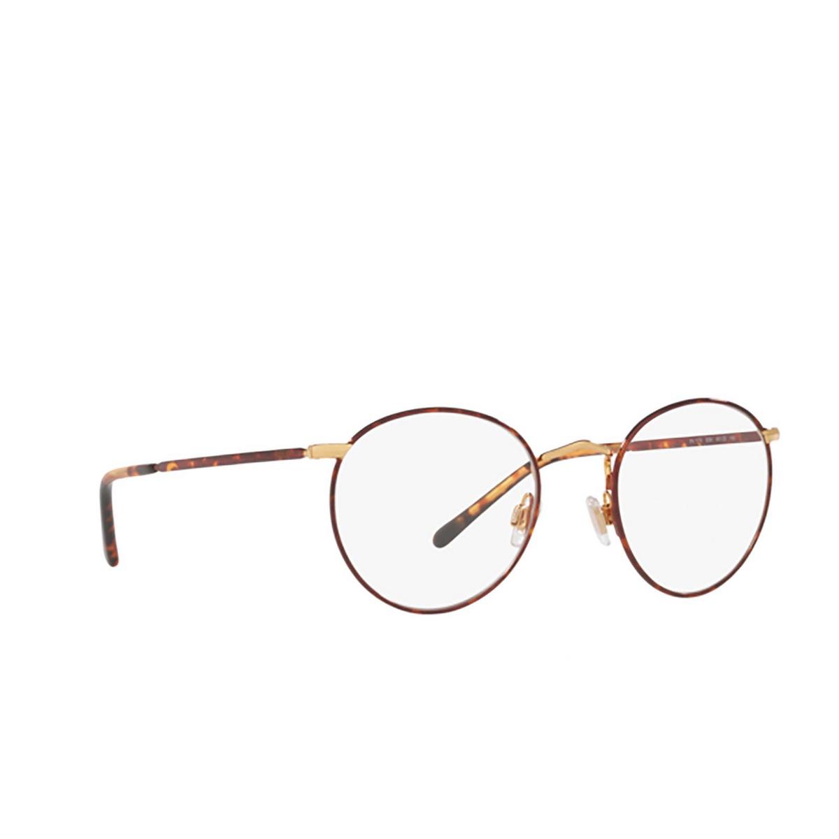 Polo Ralph Lauren® Round Eyeglasses: PH1179 color Havana On Shiny Gold 9384 - three-quarters view.