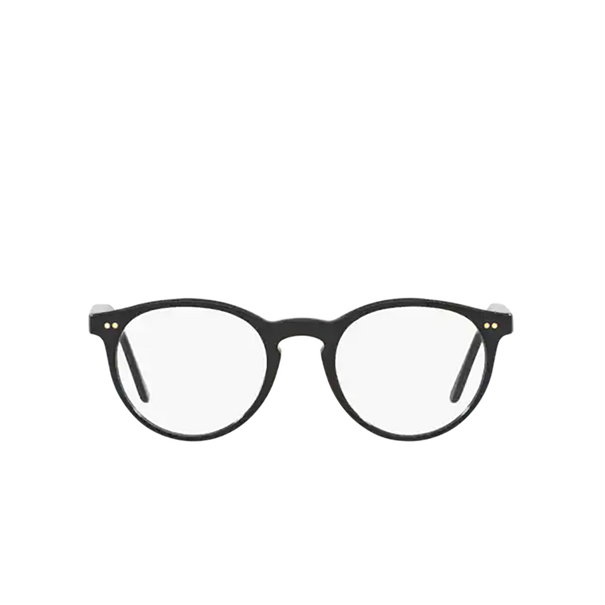 Polo Ralph Lauren® Round Eyeglasses: PH2083 color Shiny Black 5001.