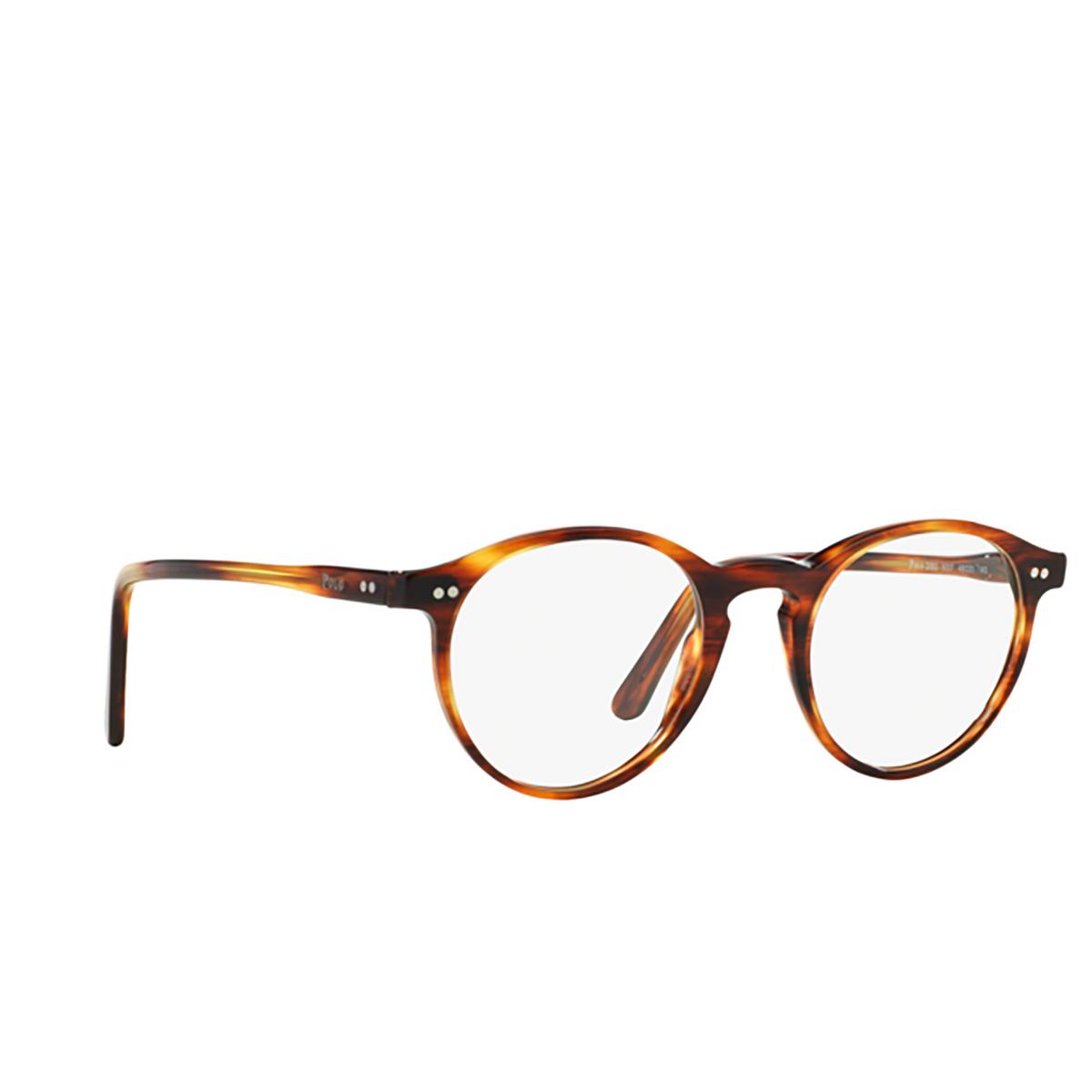 Polo Ralph Lauren® Round Eyeglasses: PH2083 color Shiny Striped Havana 5007.