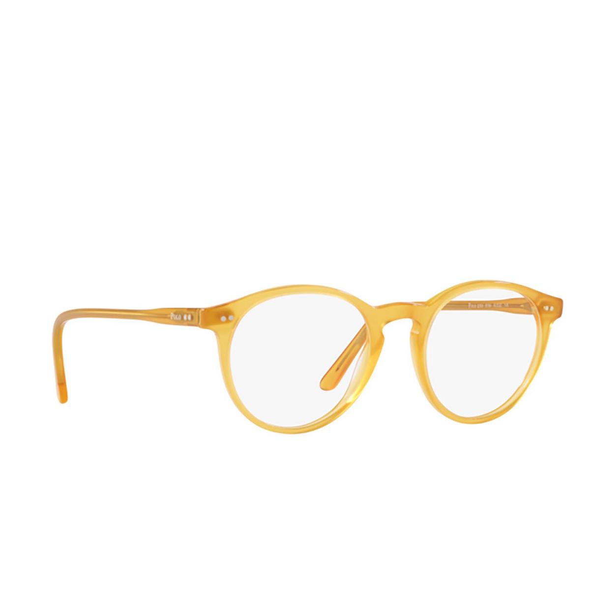 Polo Ralph Lauren® Round Eyeglasses: PH2083 color Shiny Honey 5184 - three-quarters view.