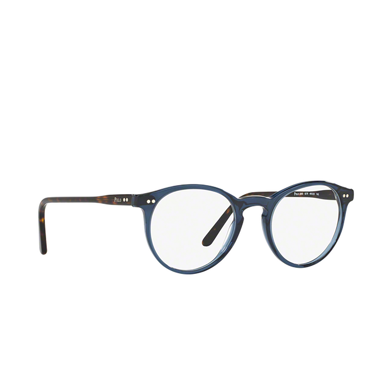 Polo Ralph Lauren® Round Eyeglasses: PH2083 color Shiny Transparent Blue 5276.