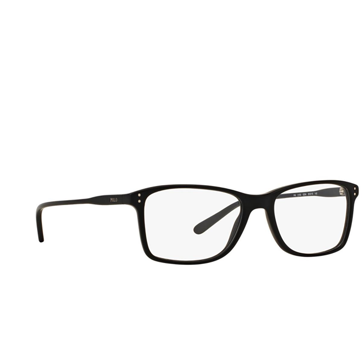 Polo Ralph Lauren® Rectangle Eyeglasses: PH2155 color Matte Black 5284 - three-quarters view.