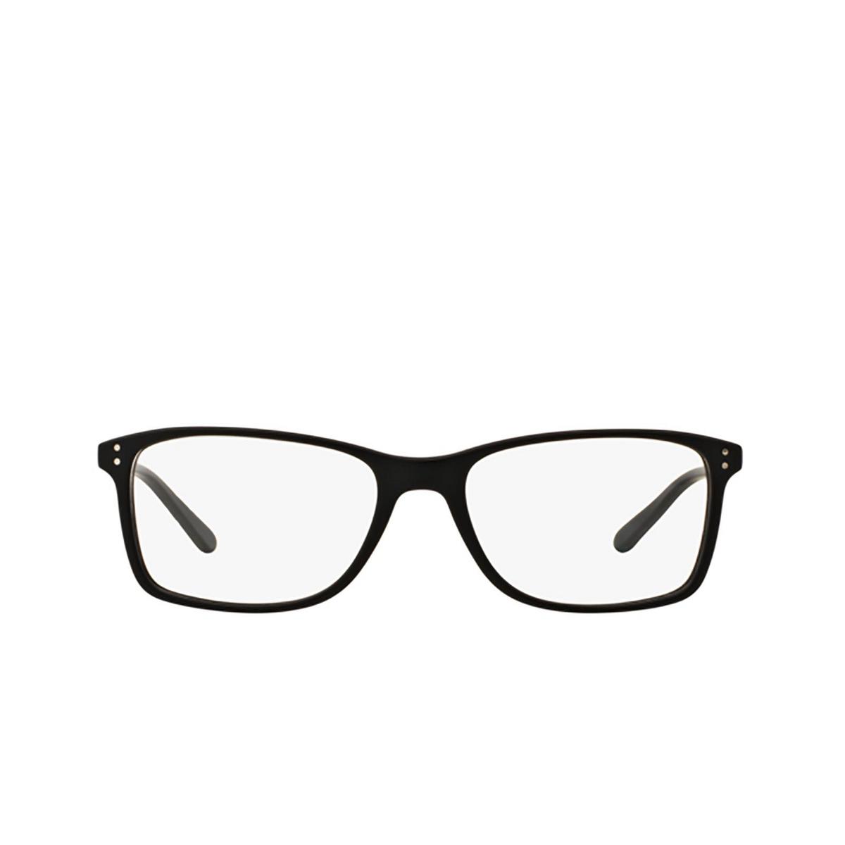Polo Ralph Lauren® Rectangle Eyeglasses: PH2155 color Matte Black 5284 - front view.