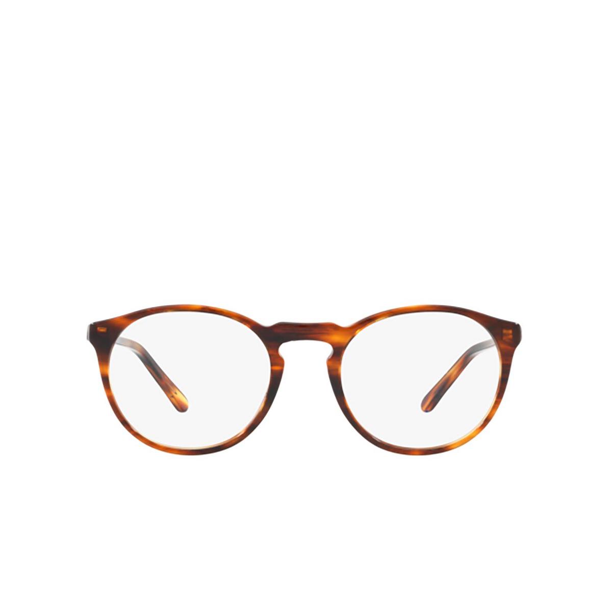 Polo Ralph Lauren® Round Eyeglasses: PH2180 color Shiny Striped Havana 5007 - front view.
