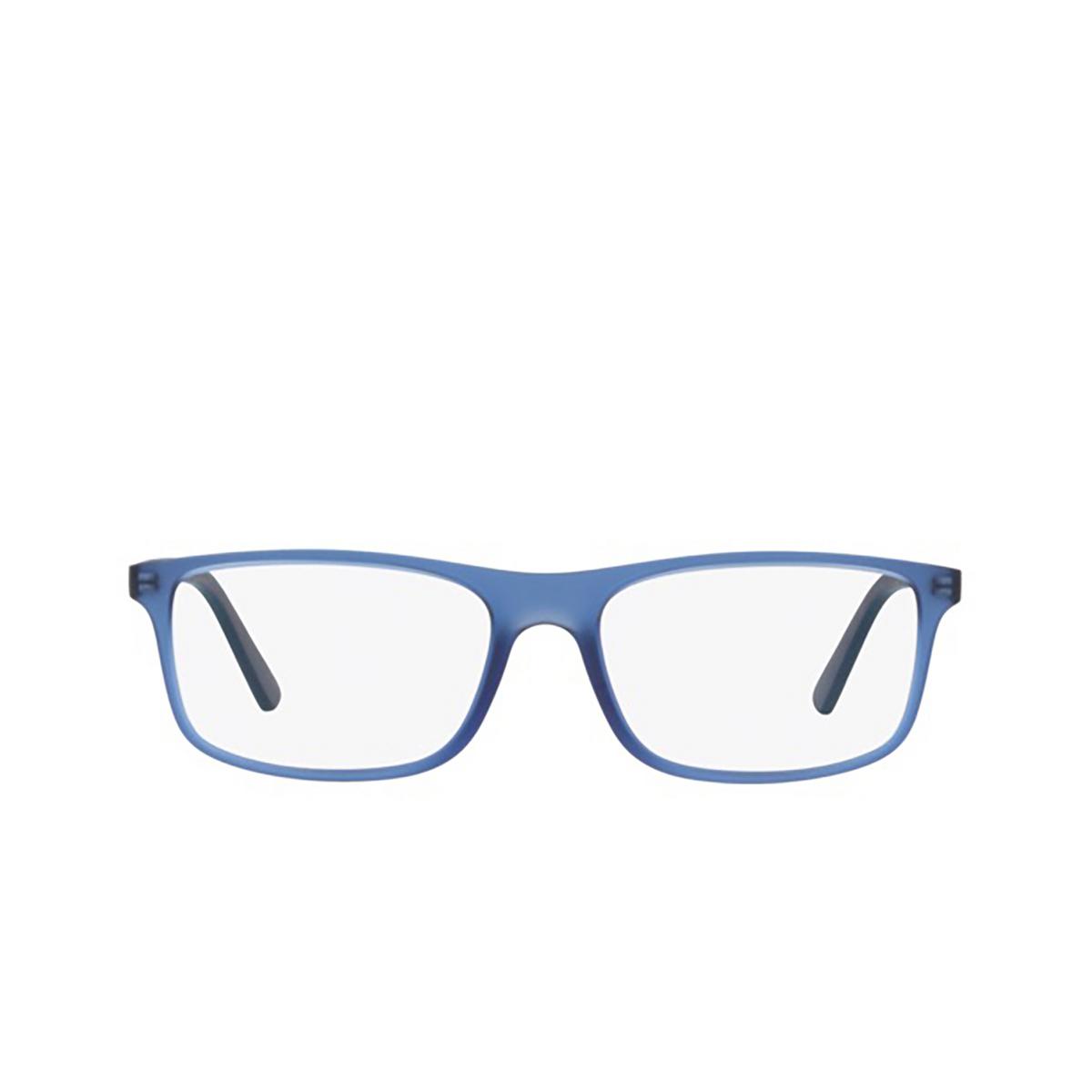 Polo Ralph Lauren® Rectangle Eyeglasses: PH2197 color Matte Transparent Blue 5735 - front view.