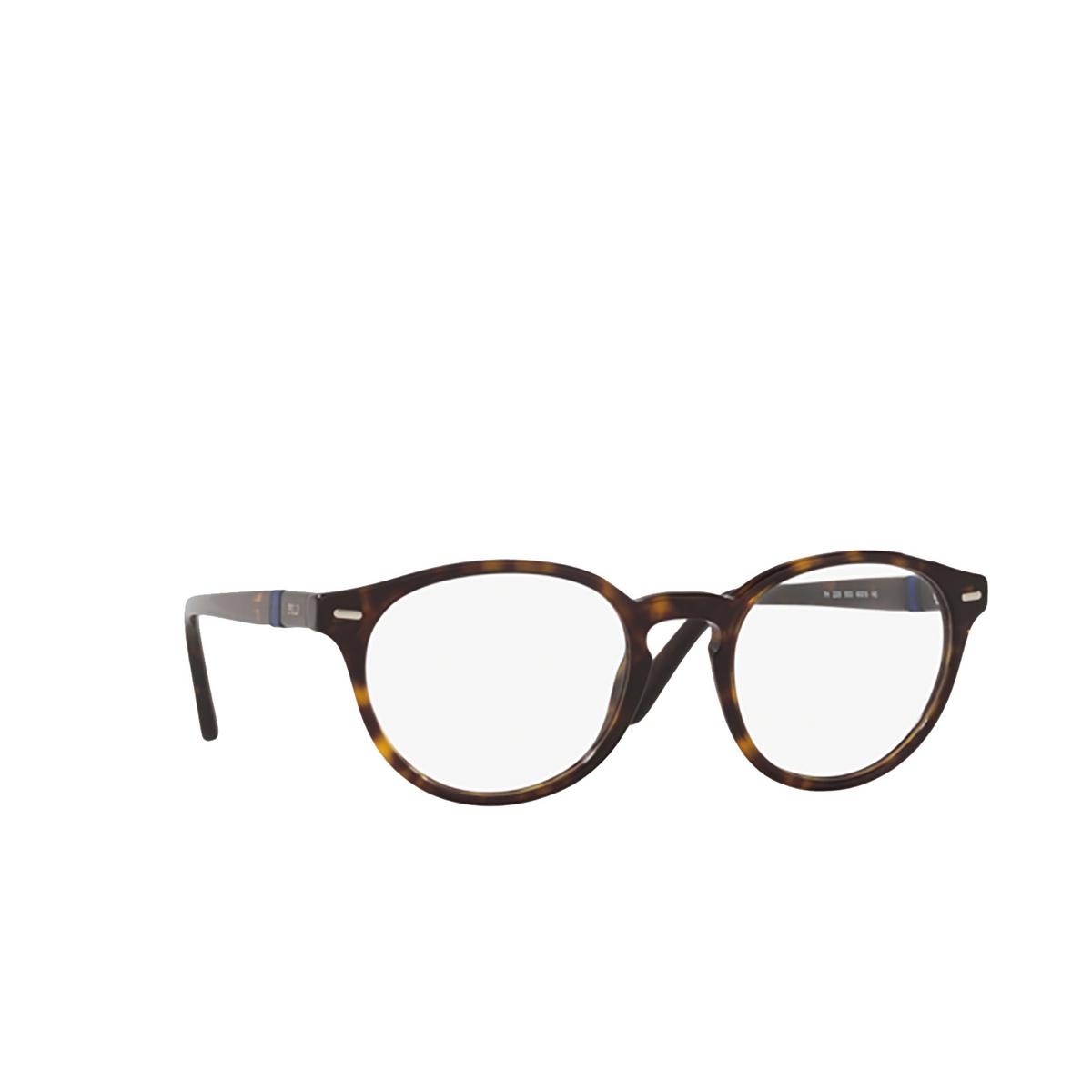 Polo Ralph Lauren® Round Eyeglasses: PH2208 color Shiny Dark Havana 5003 - three-quarters view.
