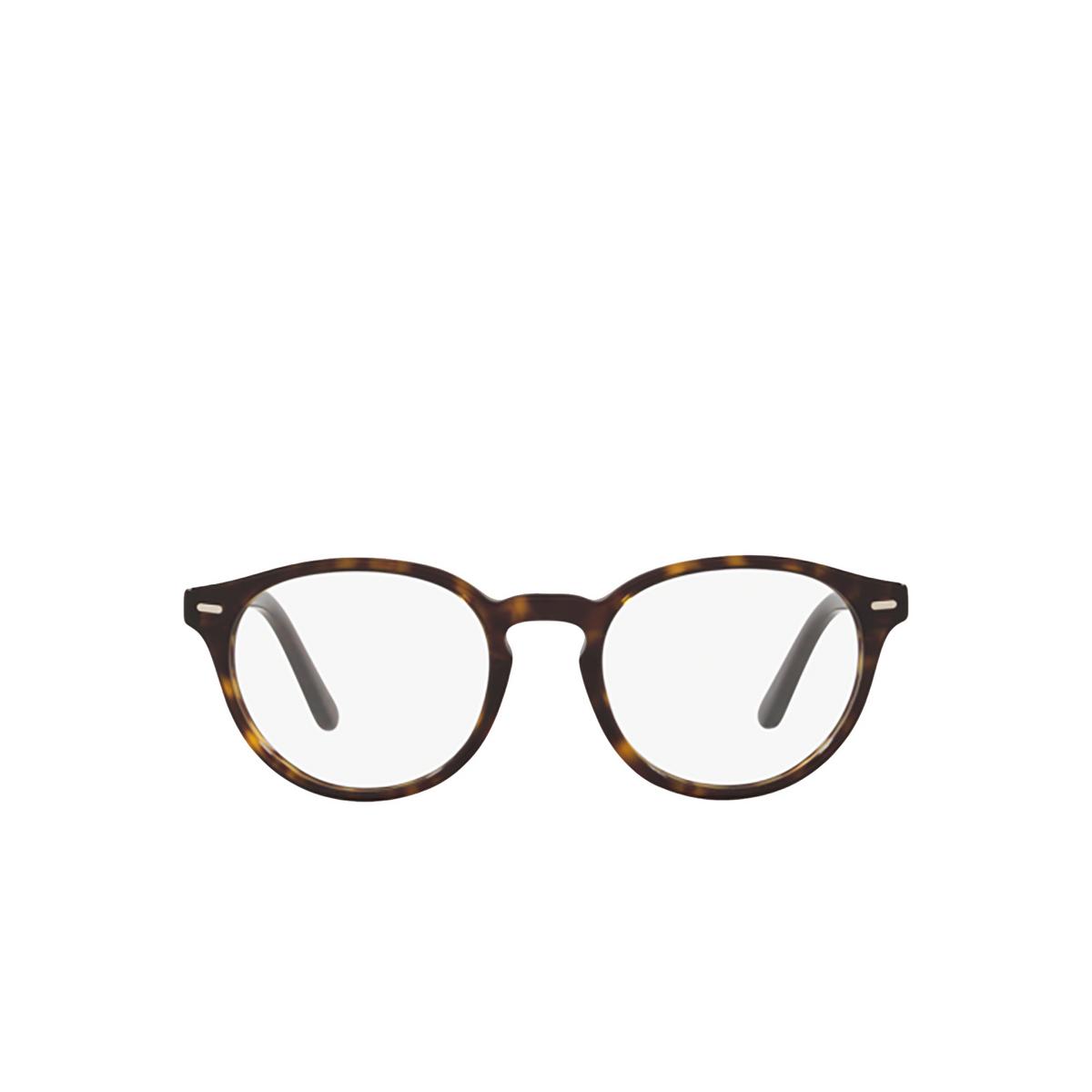 Polo Ralph Lauren® Round Eyeglasses: PH2208 color Shiny Dark Havana 5003 - front view.