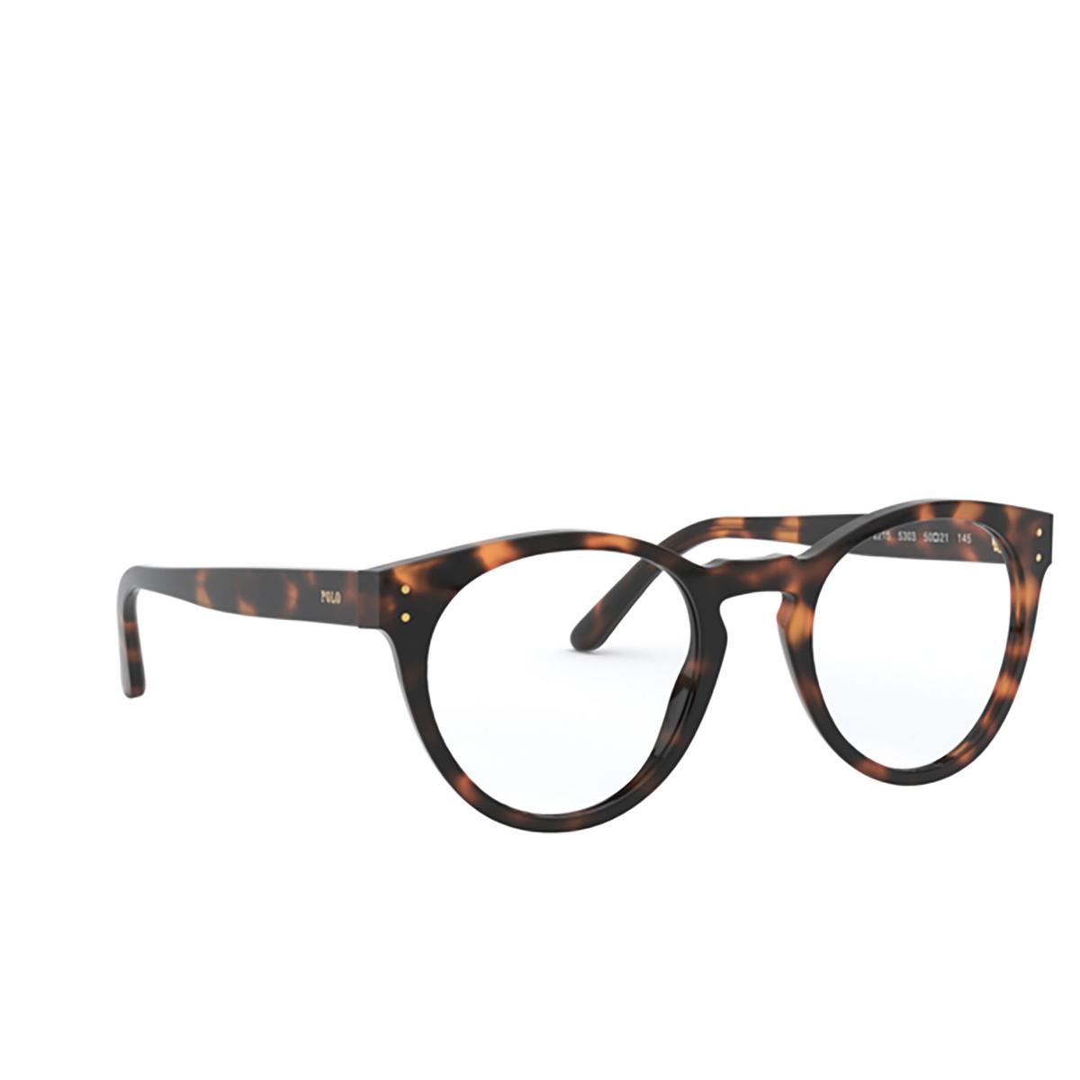 Polo Ralph Lauren® Round Eyeglasses: PH2215 color Shiny Jc Tortoise 5303 - three-quarters view.