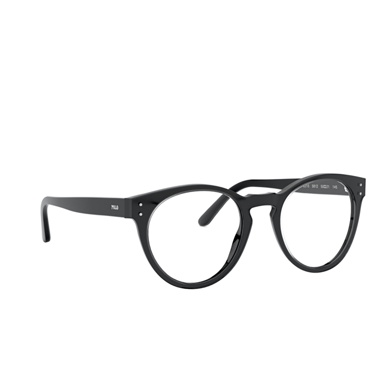 Polo Ralph Lauren® Round Eyeglasses: PH2215 color Shiny Crystal On Black 5812.