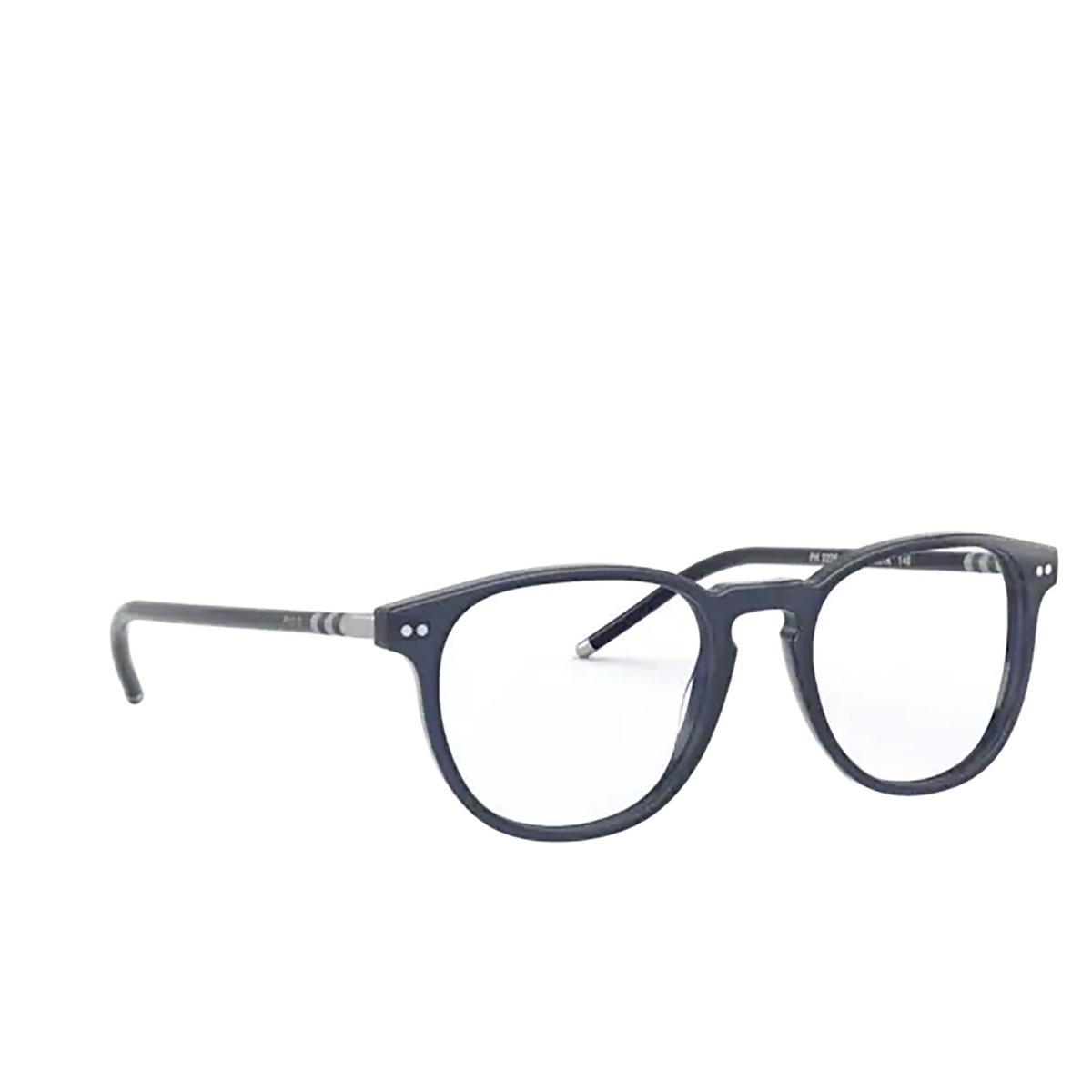 Polo Ralph Lauren® Square Eyeglasses: PH2225 color Transparent Blue 5866.