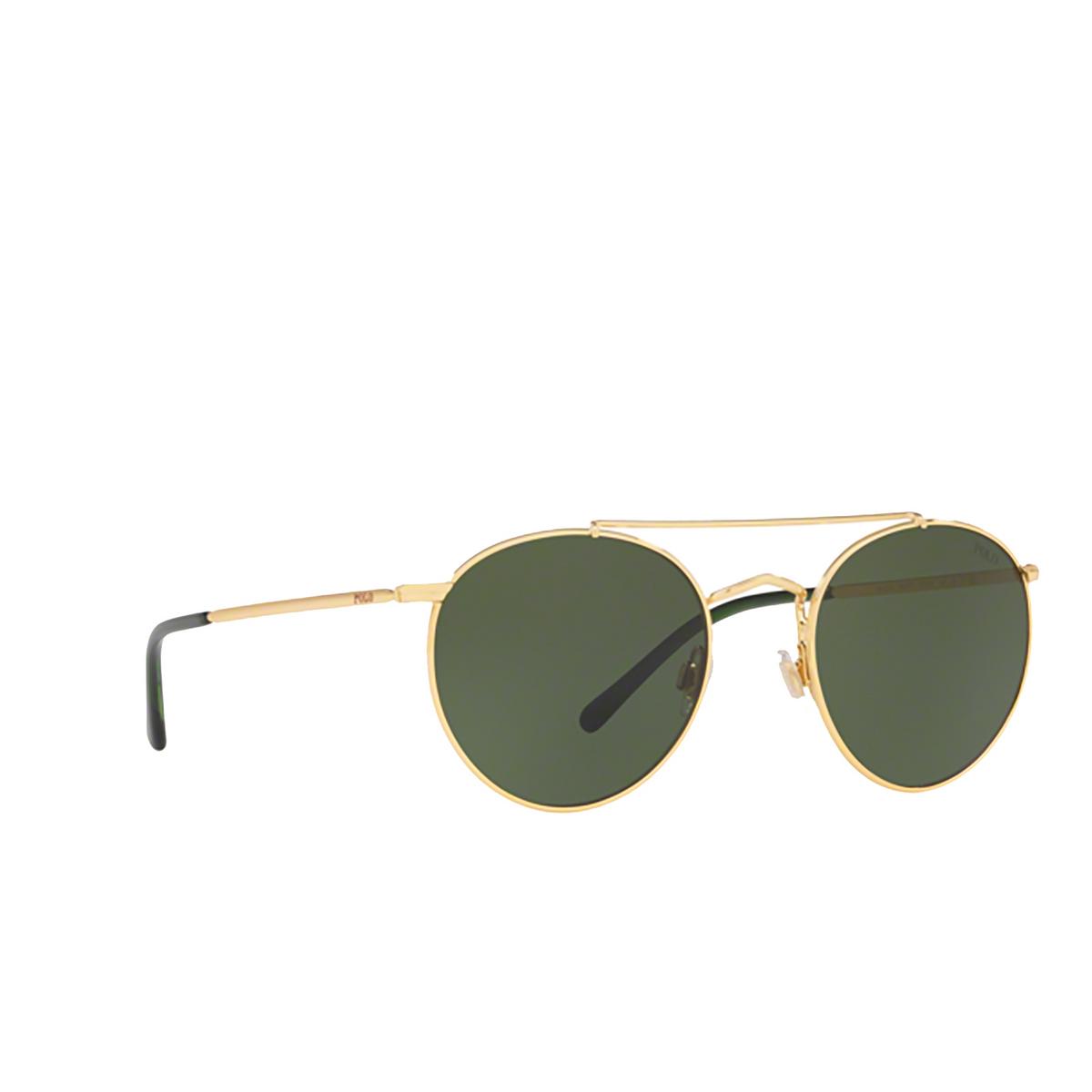 Polo Ralph Lauren® Round Sunglasses: PH3114 color Shiny Gold 900471.
