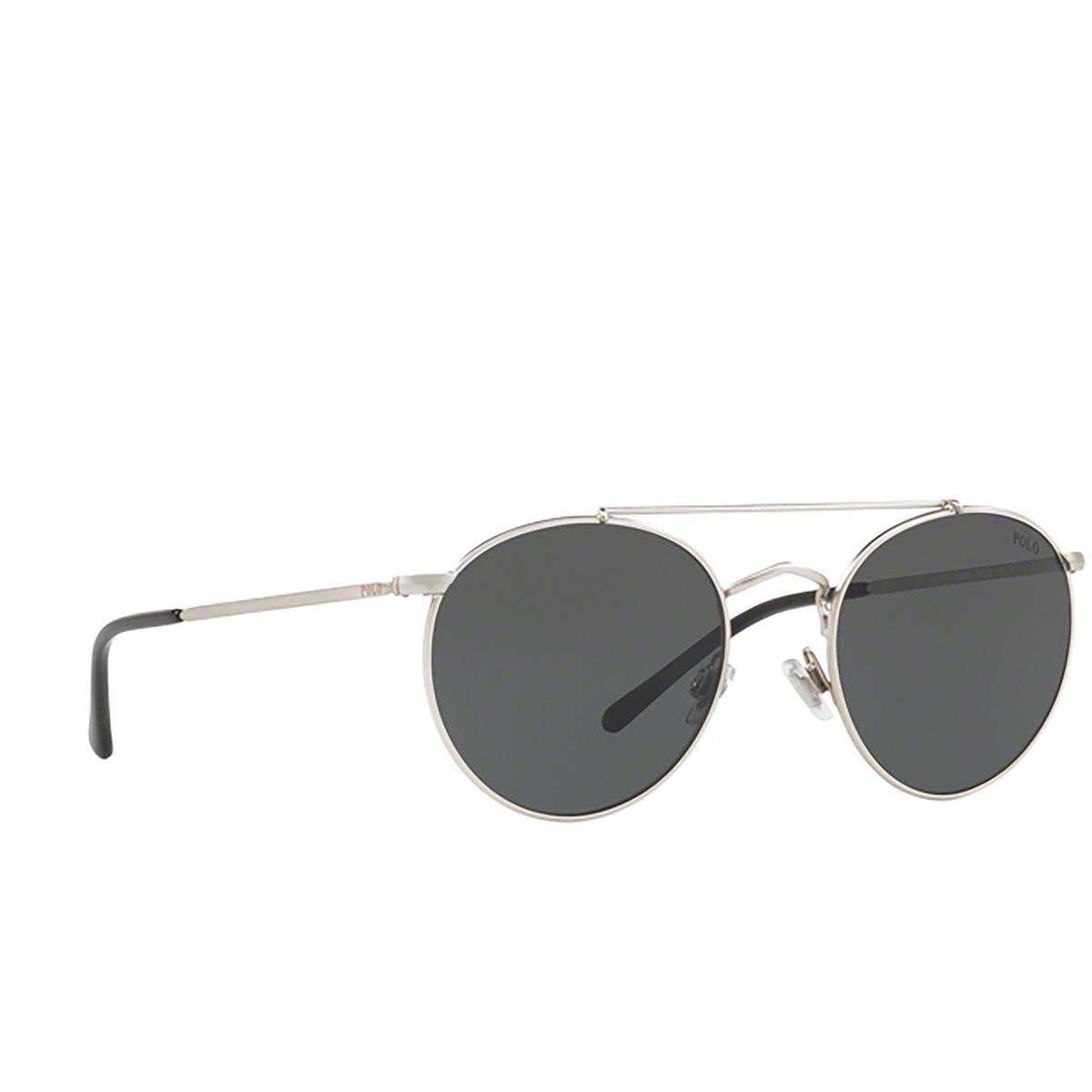 Polo Ralph Lauren® Aviator Sunglasses: PH3114 color Semishiny Brushed Silver 932687.