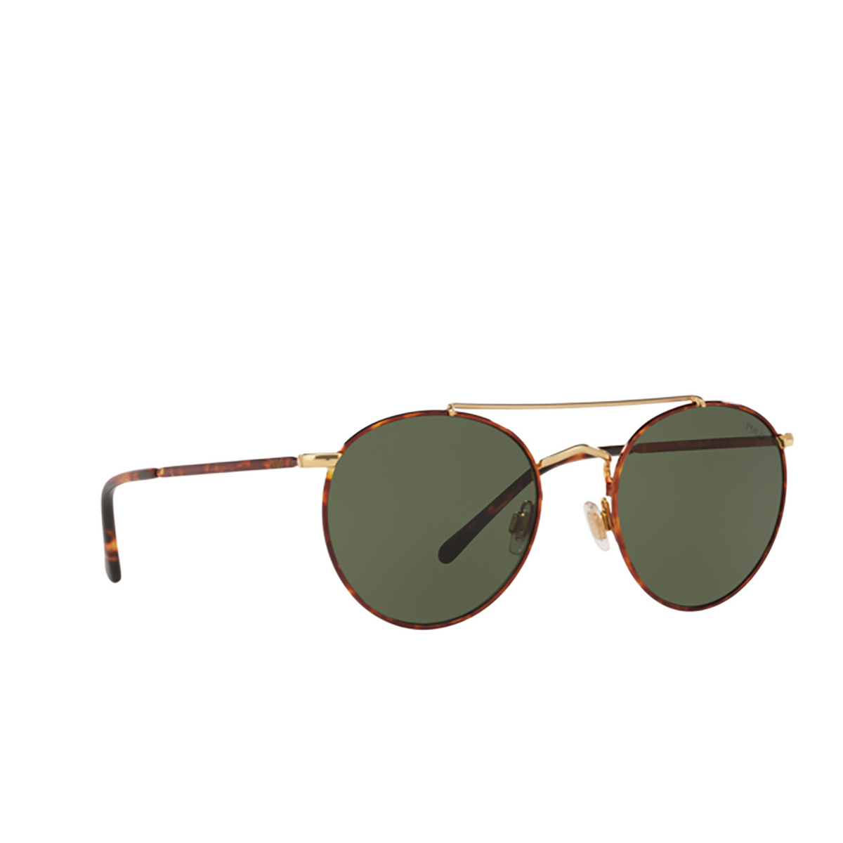 Polo Ralph Lauren® Round Sunglasses: PH3114 color Havana On Shiny Gold 938471.
