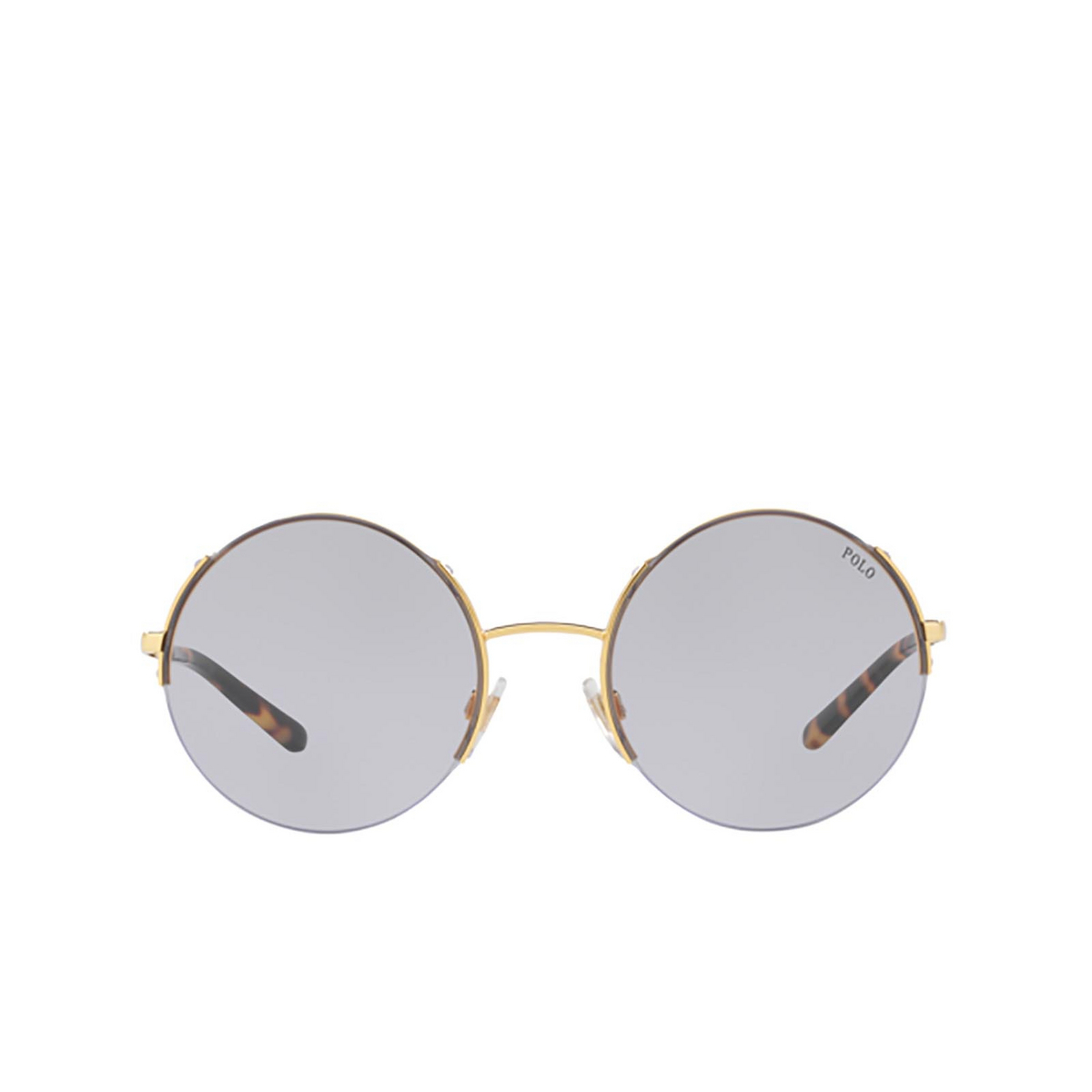 Polo Ralph Lauren® Round Sunglasses: PH3120 color Gold 90041A - front view.
