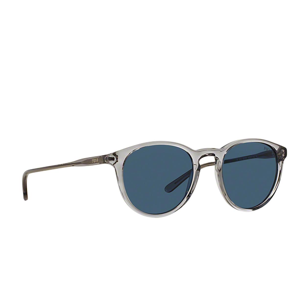 Polo Ralph Lauren® Round Sunglasses: PH4110 color Shiny Semi-transparent Grey 541380.