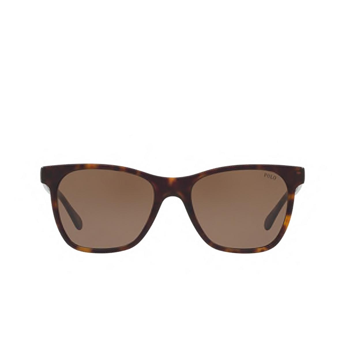 Polo Ralph Lauren® Square Sunglasses: PH4128 color Shiny Vintage Dark Havana 560273.