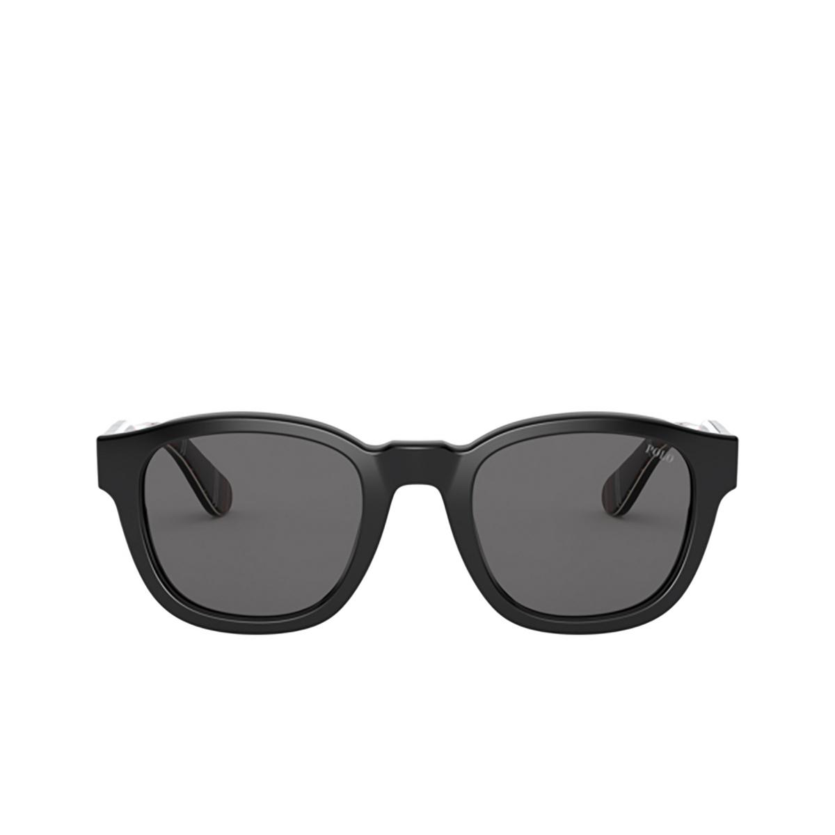 Polo Ralph Lauren® Square Sunglasses: PH4159 color Shiny Black 500187.