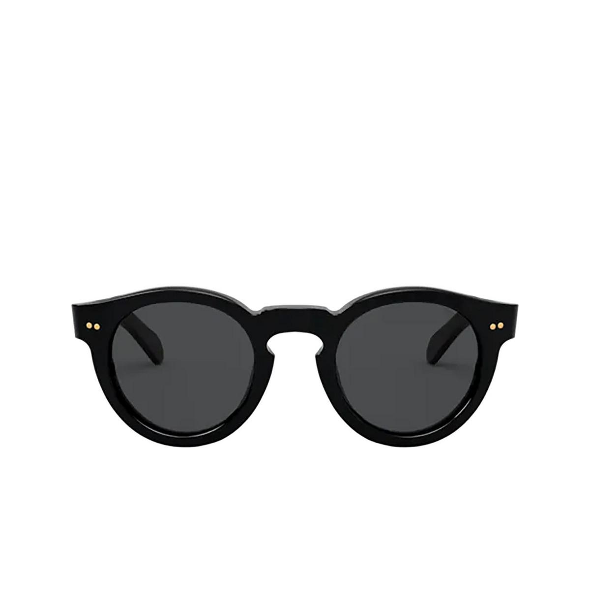 Polo Ralph Lauren® Round Sunglasses: PH4165 color Shiny Black 500187 - front view.