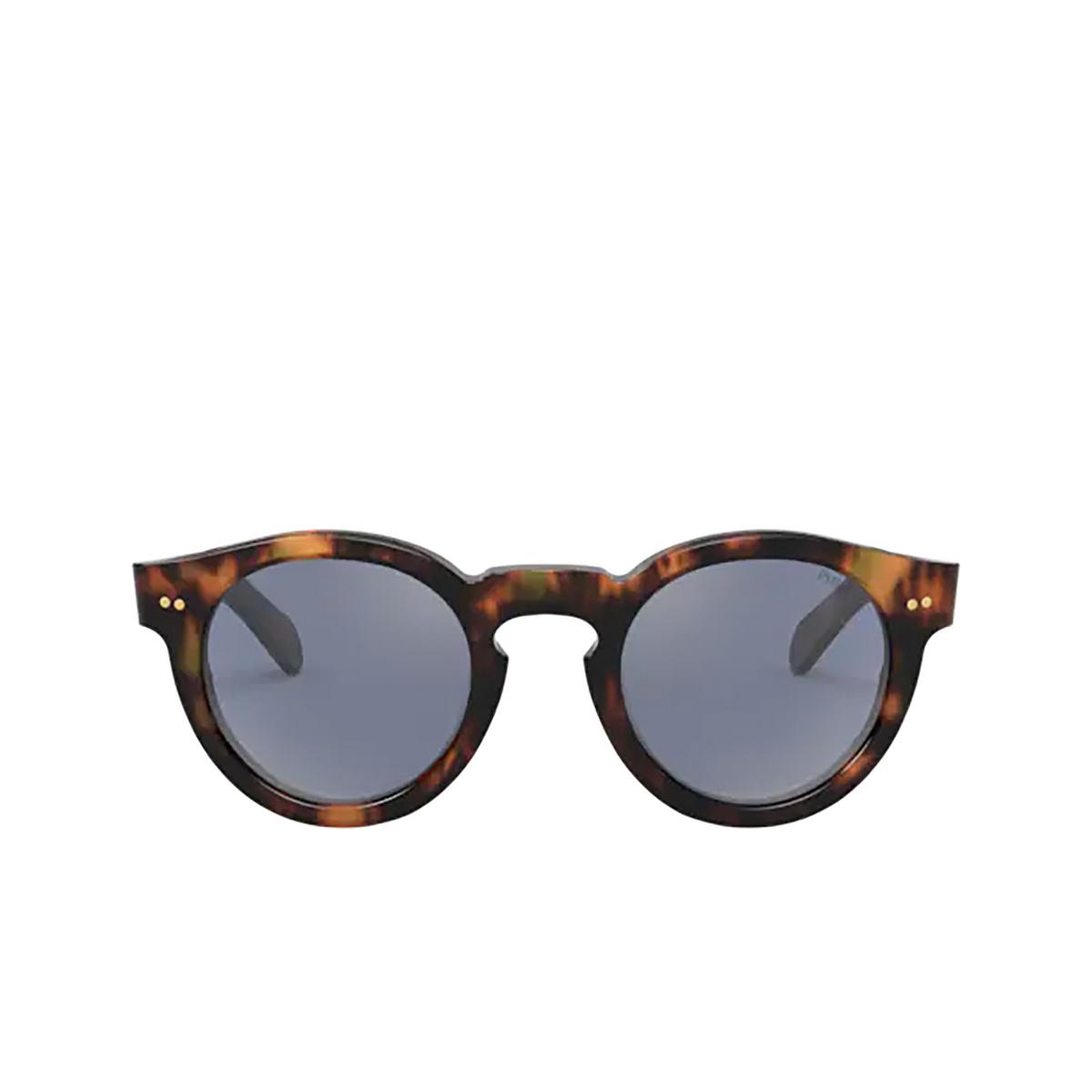 Polo Ralph Lauren® Round Sunglasses: PH4165 color Shiny Jerry Havana 50171U - front view.