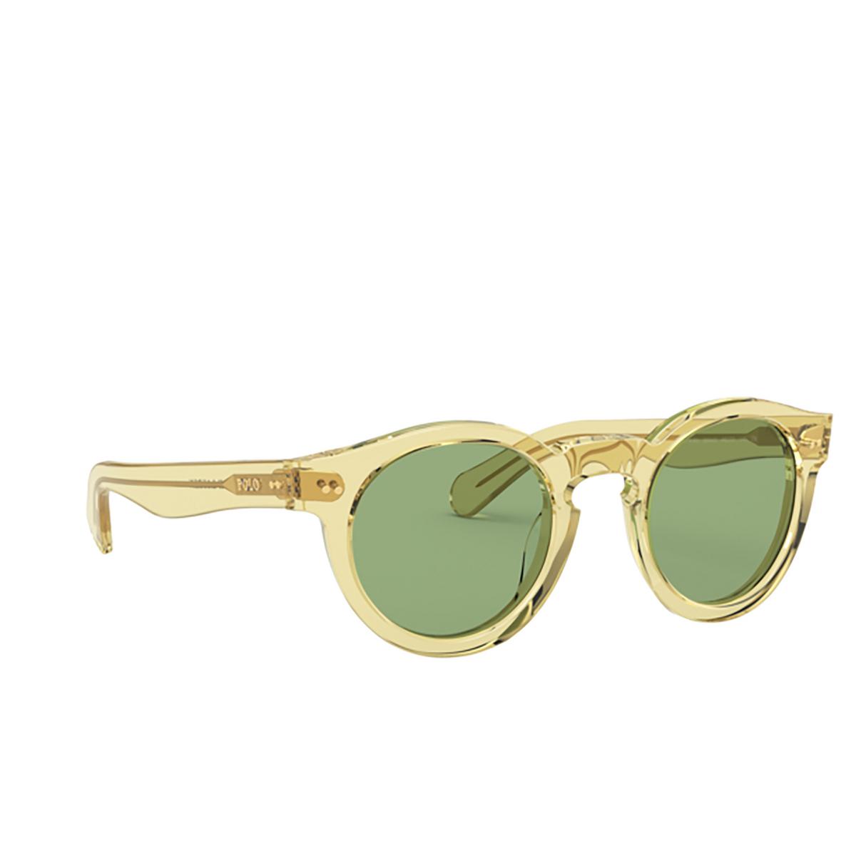 Polo Ralph Lauren® Round Sunglasses: PH4165 color Shiny Transp Dark Grey Pinot 5864/2.