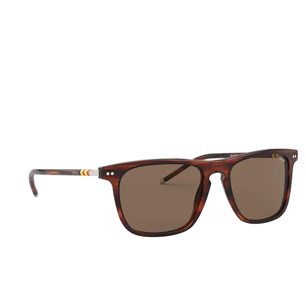 Polo Ralph Lauren® Square Sunglasses: PH4168 color Shiny Striped Havana 500773.