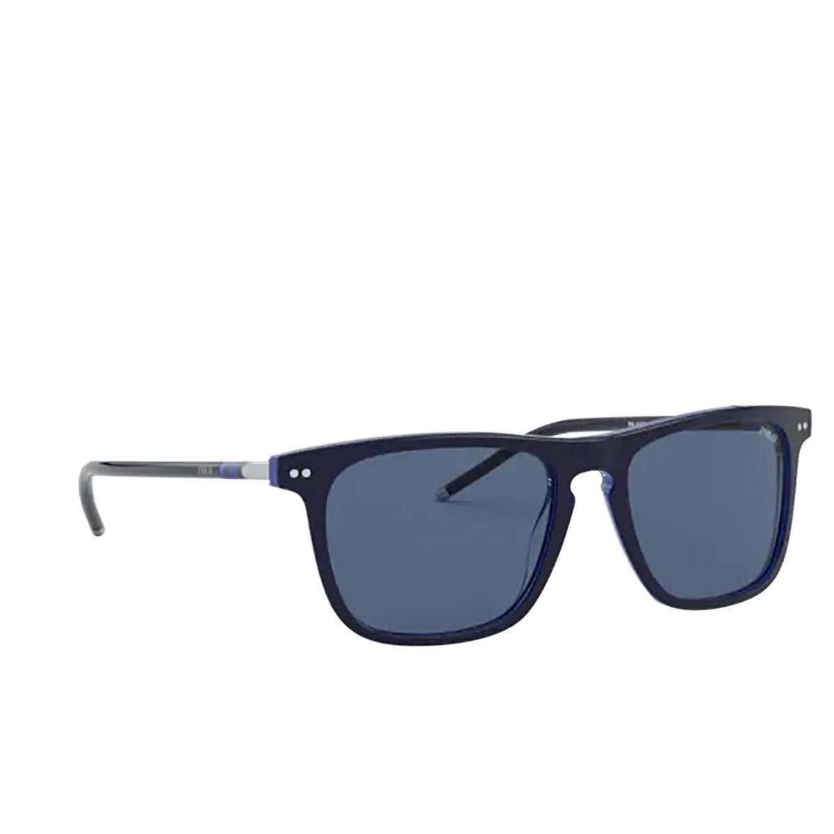 Polo Ralph Lauren® Square Sunglasses: PH4168 color Shiny Navy Blue On Royal Blue 586580.