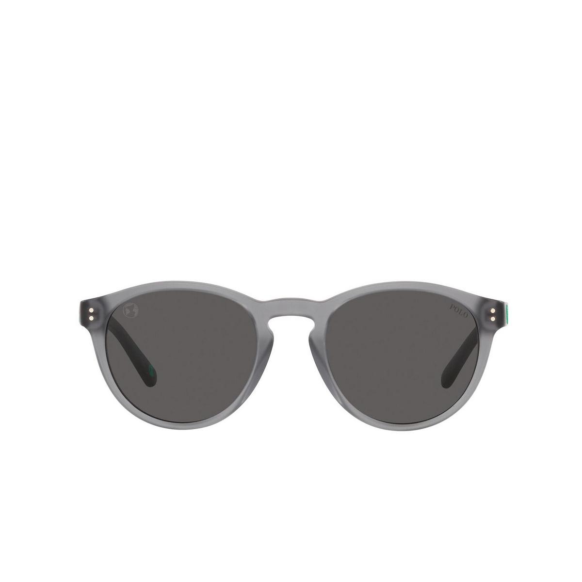 Polo Ralph Lauren® Round Sunglasses: PH4172 color Matte Transparent Dark Grey 595387.
